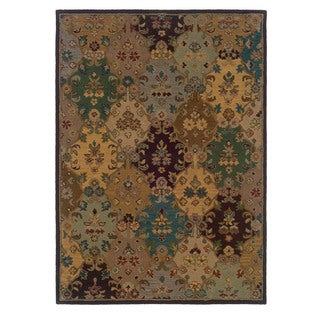 Linon Trio Traditional Ivory/ Multi Area Rug (5' x 7')