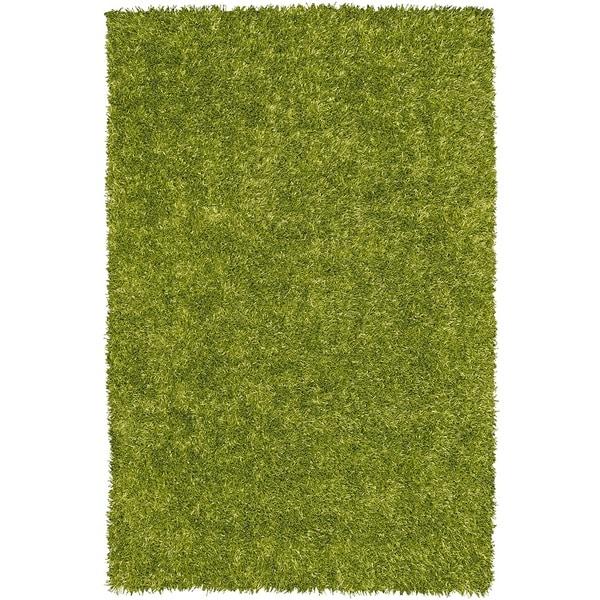 Vivid Lime Rectangular Shag Rug - 3'6 x 5'6