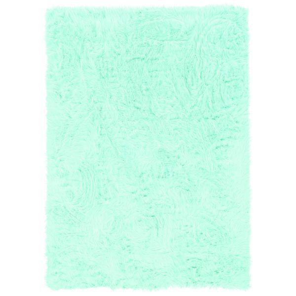Linon Blue Faux Sheepskin Rug - 5' x 7'