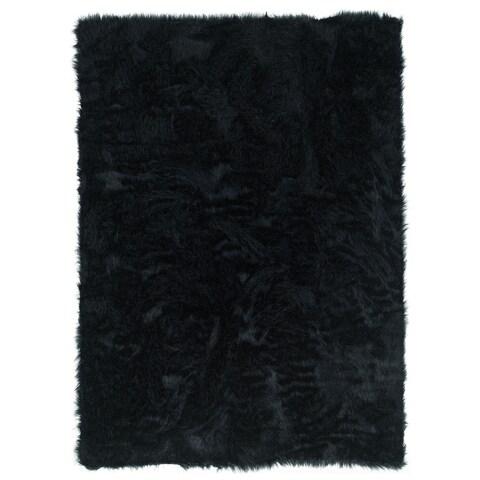 Linon Faux Sheepskin Rug