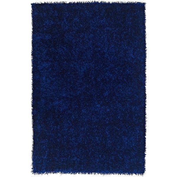 Shop Rectangular Vivid Cobalt Blue Shag Rug 3 6 X 5 6