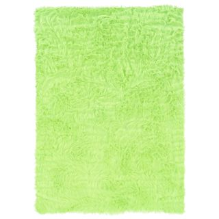 Linon Green and Green Faux Sheepskin Rug (3' x 5')