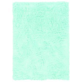 Linon Blue Faux Sheepskin Rug (3' x 5')