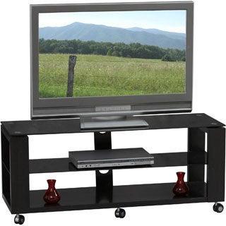 Linon Cliff Black 47-inch Wood/ Glass Media Center