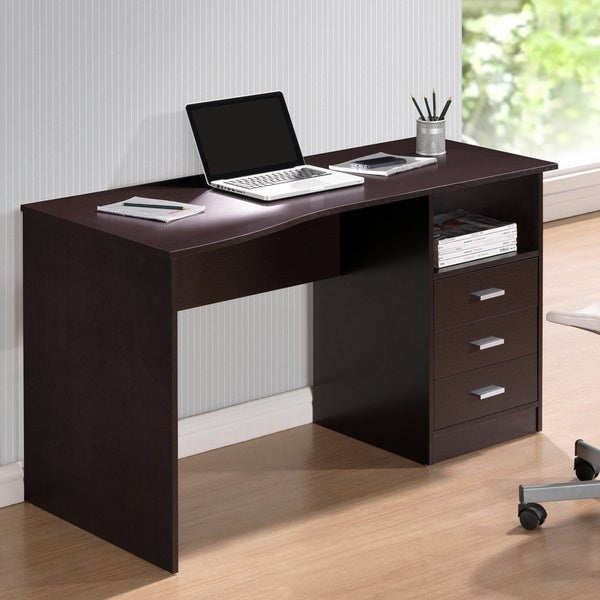 Modern Designs Classic 3 drawer Computer Desk Free
