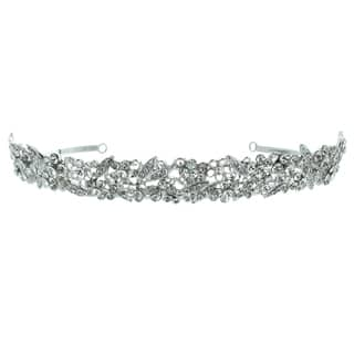 Kate Marie 'Olivia' Silvertone Rhinestone Crown Tiara with Hair Combs https://ak1.ostkcdn.com/images/products/9358093/P16550582.jpg?impolicy=medium