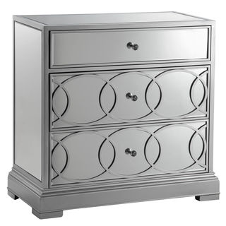 Emporia Silvertone/ Mirrored Storage Chest