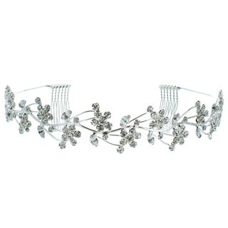 Kate Marie 'Naomi' Rhinestone Vines Crown Tiara with Hair Combs