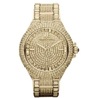 Michael Kors Women's MK5720 'Camille' Crystal Glam Goldtone Style Watch|https://ak1.ostkcdn.com/images/products/9358308/P16550708.jpg?impolicy=medium