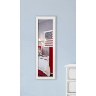 American Made Rayne Glossy White 19 x 58-inch Slender Body Mirror