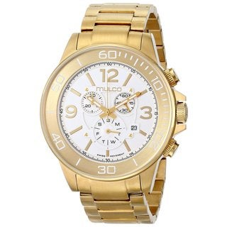 Mulco Men's 'Ferro' Yellow Goldplated Stainless Steel Watch