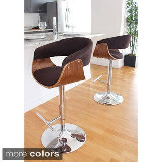 Vintage Mod Mid-Century Modern Wood Adjustable Bar Stool