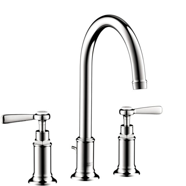 Hansgrohe AXOR Montreux Chrome Widespread Bathroom Faucet with Lever Handle