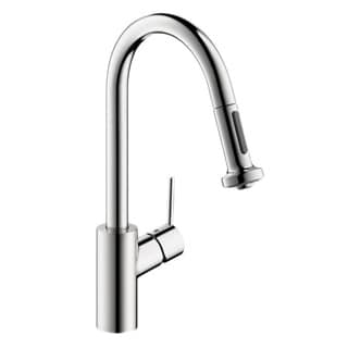 Hansgrohe Talis S 2 Prep Pull Down Chrome Kitchen Faucet with Two (2) Spray
