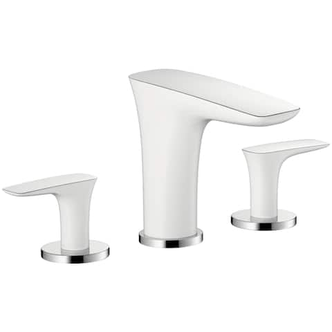 Hansgrohe Puravida White/ Chrome Widespread Bathroom Faucet