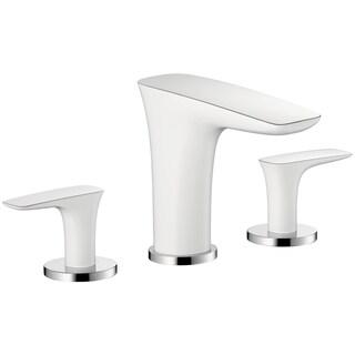 Hansgrohe Puravida White/ Chrome Widespread Bathroom Faucet