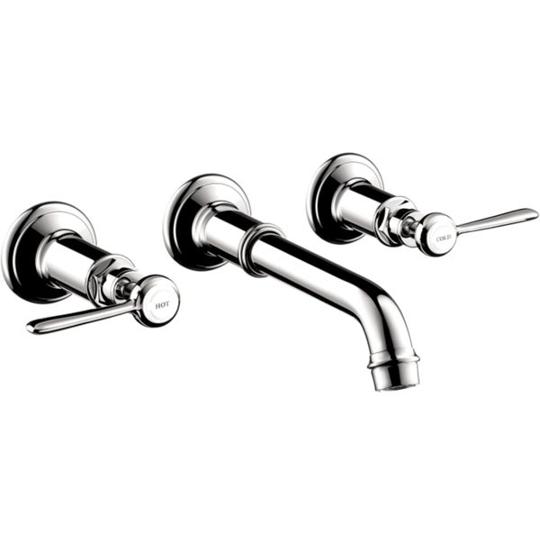Hansgrohe AXOR Montreux Chrome Wall-mounted Trim Widespread Faucet with Lever Handles