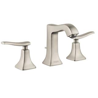 Hansgrohe Metris C Widespread Brushed Nickel Bathroom Faucet