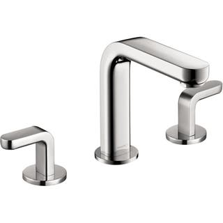 hansgrohe bathroom faucet. Hansgrohe Metris S Chrome Widespread Faucet with Lever Handles Bathroom Faucets For Less  Overstock com