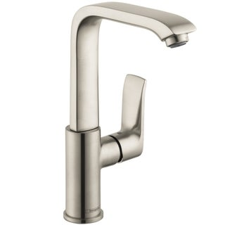 hansgrohe focus e 4 hole roman brushed nickel tubspout. Black Bedroom Furniture Sets. Home Design Ideas