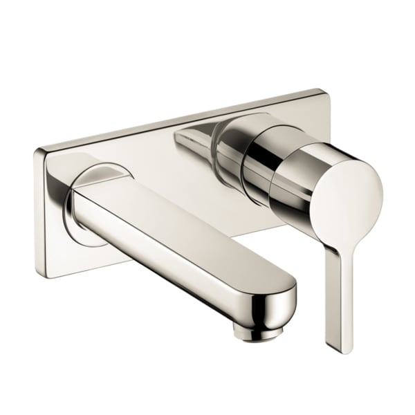 Hansgrohe Metris S Wall-mounted Brushed Nickel Single ...