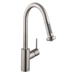 hansgrohe talis s 2 steel optik kitchen faucet with pulldown sprayer