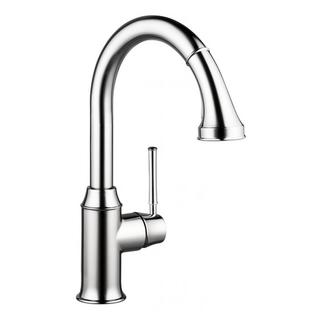Hansgrohe Talis C Higharc Single Hole Chrome Kitchen faucet with Pull-down 2-spray