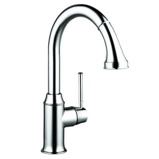 Hansgrohe Talis C Higharc Single Hole Low-flow Chrome Kitchen faucet with Pull-down 2-spray