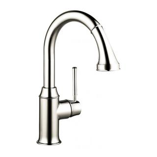Hansgrohe Talis C Prep Kitchen faucet with Pull-down 2-spray Polished Nickel