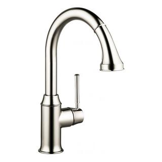 Hansgrohe Talis C Higharc Single Hole Polished Nickel Kitchen faucet with Pull-down 2-spray