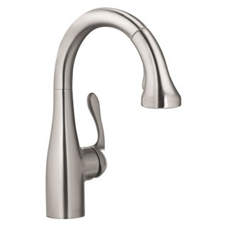 Hansgrohe Allegro E Gourmet Prep Steel Optik faucet