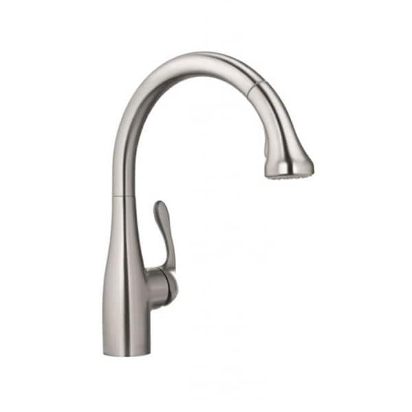 Hansgrohe Allegro E Gourmet Steel Optik Kitchen faucet