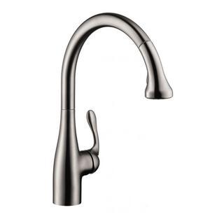 Hansgrohe Allegro E Gourmet Pro Steel Optik Kitchen faucet