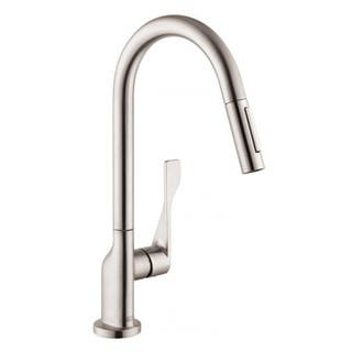 Hansgrohe Axor Citterio Pull Out Steel Optik Kitchen Faucet