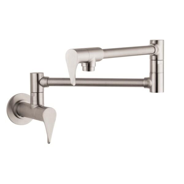 Hansgrohe Axor Citterio Wall Steel Optik Pot-filler faucet