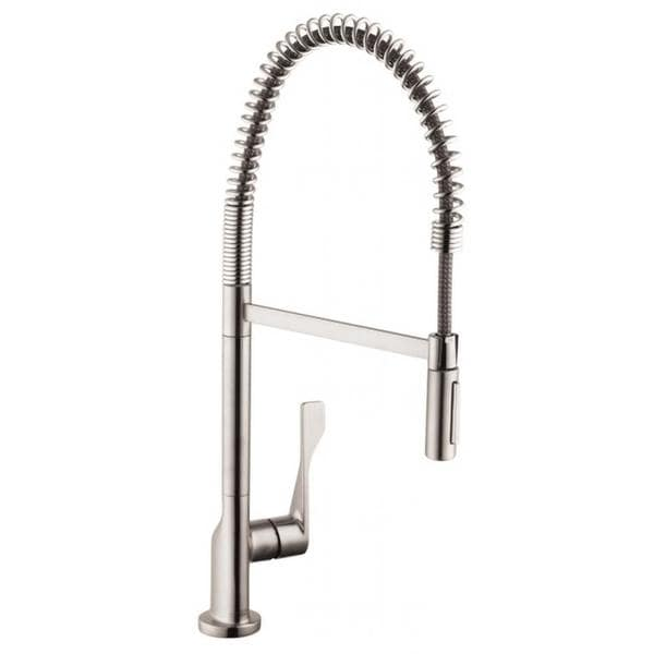 Hansgrohe Axor Citterio Semi-pro Steel Optik Kitchen faucet