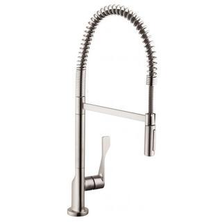 Hansgrohe Axor Citterio Semi-pro Steel Optik Kitchen faucet - Silver