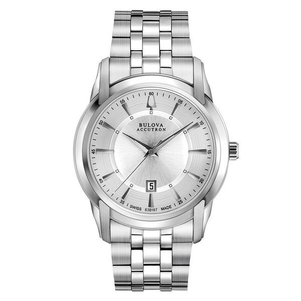 bulova accutron men s 63b167 swiss stainless steel watch bulova accutron men s 63b167 swiss stainless steel watch