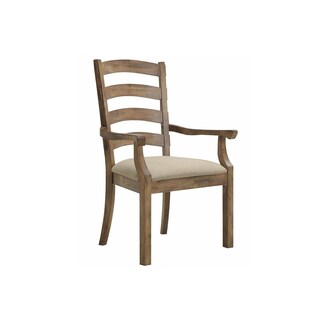 Solid Ash Ladderback Arm Chair (Set of 2)
