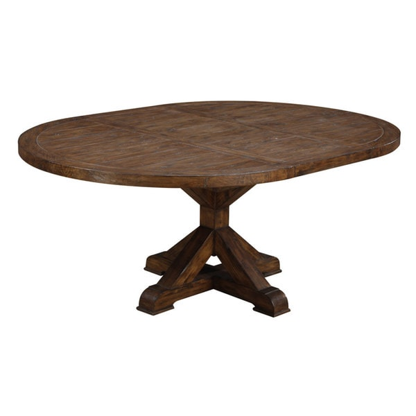 Emerald Rustic Weathered Oval Dinette Table - Free ...