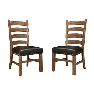 Emerald Rustic Ladderback Dining Chair (Set of 2)