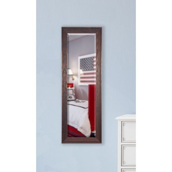 American Made Rayne Barnwood Brown Slender Body Mirror