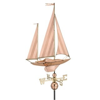 Large Sailboat Pure Copper Weathervane by Good Directions