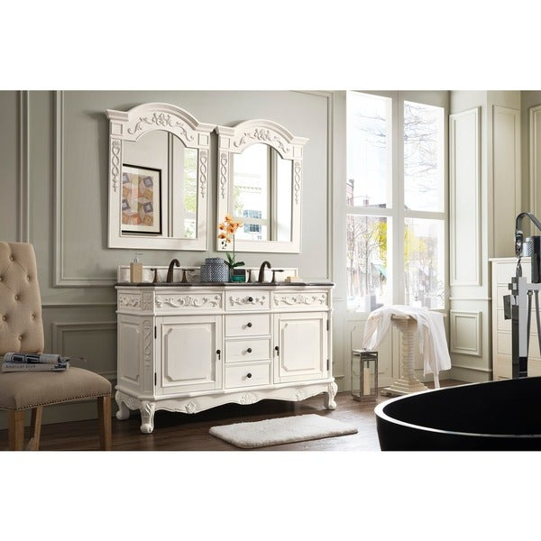James Martin Furniture Classico White/ Granite Double Vanity Set   Free  Shipping Today   Overstock.com   16551586
