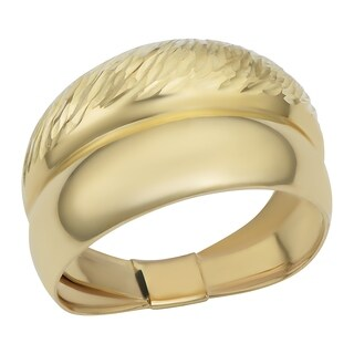 Fremada 10k Yellow Gold Polished/ Textured Graduated Band Ring