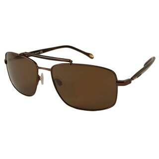 Fossil Men's Barry Polarized/ Rectangular Sunglasses