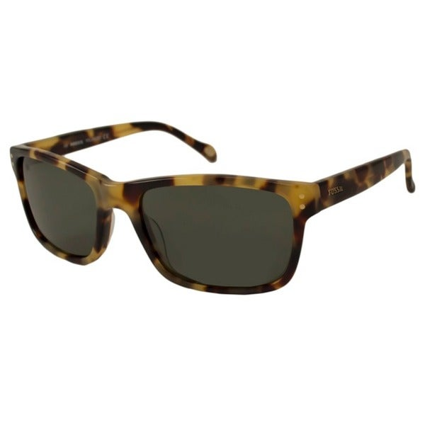0ac9093ed50a Shop Fossil Men's Russell Polarized/ Rectangular Sunglasses - Free ...