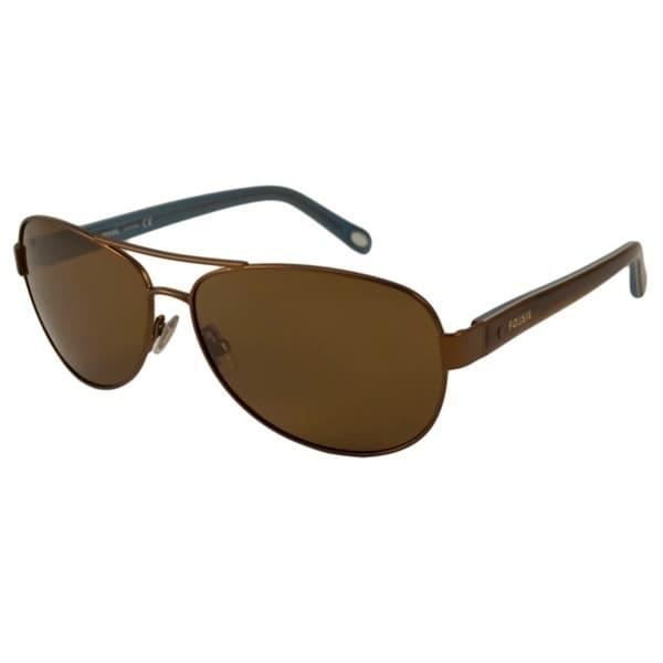 c5e4dd9cd4 Shop Fossil Women s FOS 2004 P Polarized  Aviator Sunglasses - Free ...