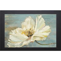 Patricia Pinto 'White Peony' Framed Artwork