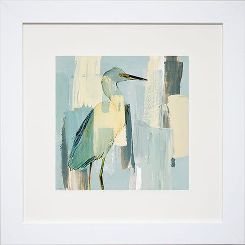 Lanie Loreth 'Sorrowing Egret' Framed Artwork